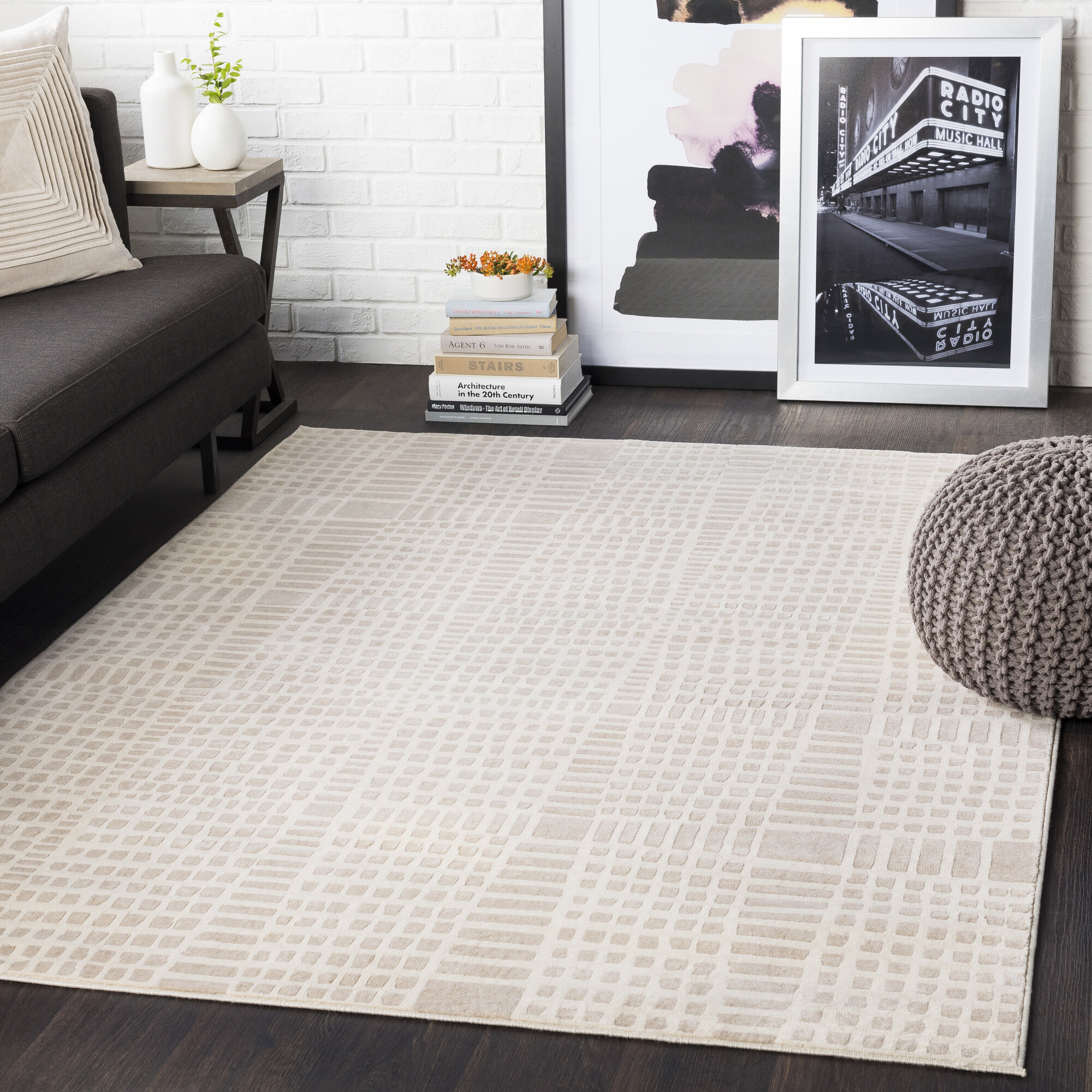 Zipcode Design Tallapoosa Abstract Beige Khaki Area Rug Reviews Wayfair