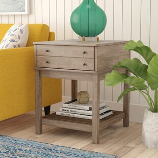 Compare Bowerbank End Table with Storage By Beachcrest Home
