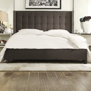 Obsidian Upholstered Platform Bed by House of Hampton