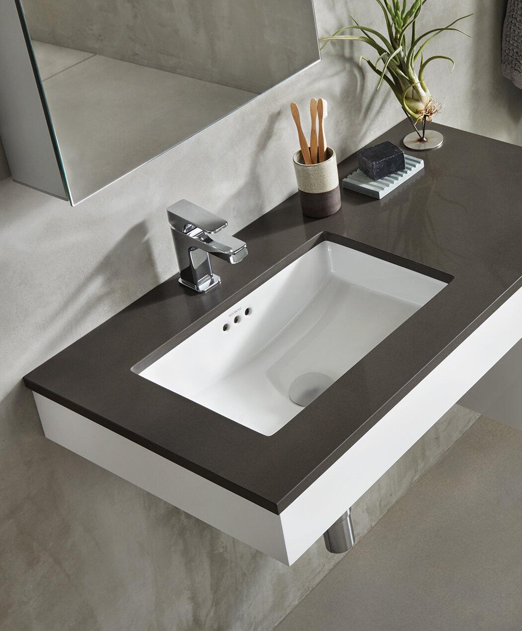 Genial Ronbow Essence Ceramic Rectangular Undermount Bathroom Sink With Overflow U0026  Reviews | Wayfair