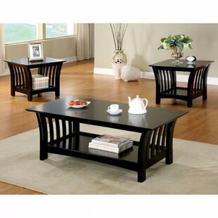 Procter Wooden 3 Piece Coffee Table Set