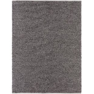 Compare & Buy Birgitt Hand-Woven Wool/Cotton Black Area Rug By 17 Stories