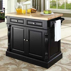 Lewistown Kitchen Island with Butcher Blo..