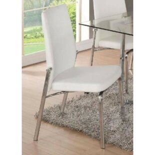 Shuman Metal Upholstered Dining Chair (Set of 2) Orren Ellis