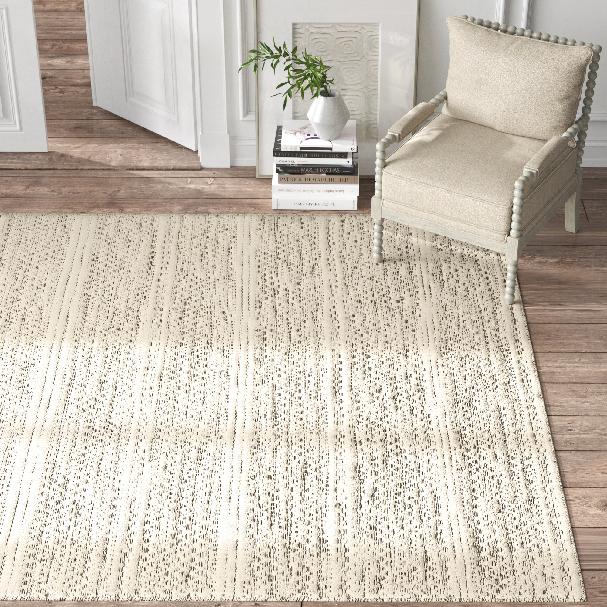 Kelly Clarkson Home Sylvie Chevron Handmade Flatweave Wool Cream Area Rug Reviews Wayfair
