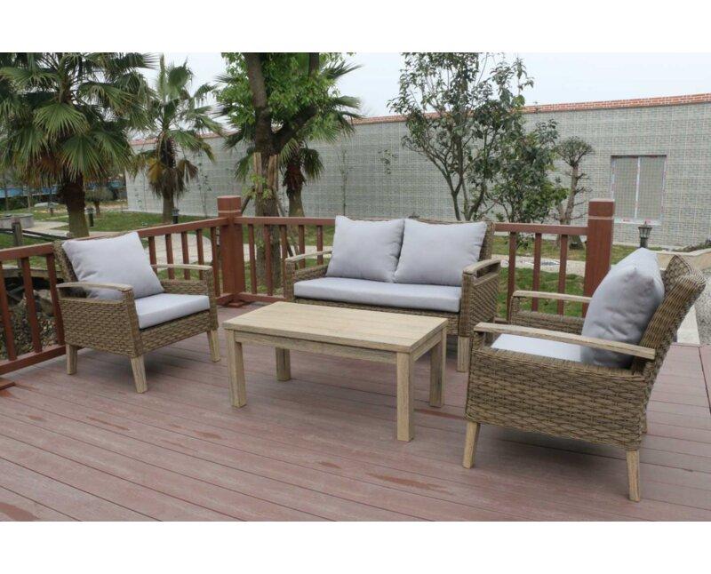 Bari 4 Piece Sofa Set With Cushions