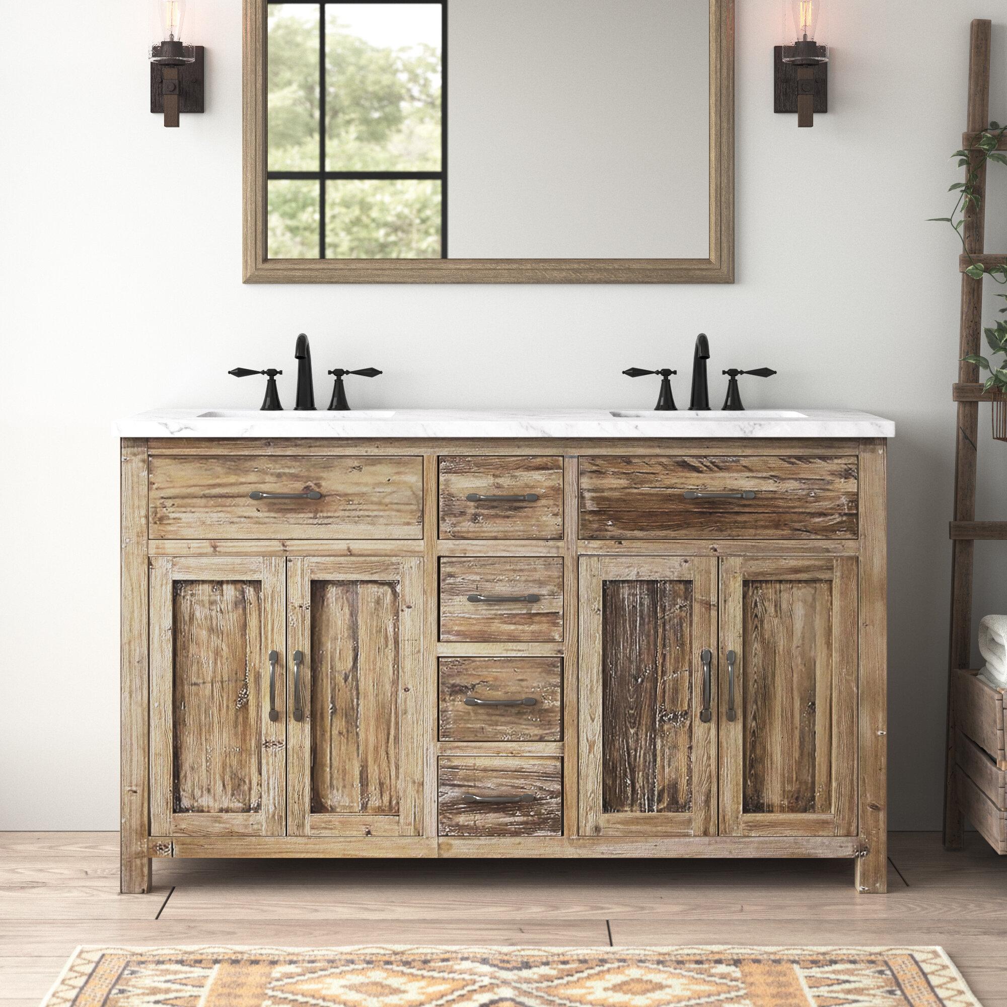 Foundry Select Shumaker 60 Double Bathroom Vanity Set Wayfair