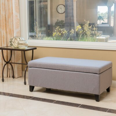 Pleasing Wrought Studio Vannatta Storage Ottoman Upholstery Light Gray Gmtry Best Dining Table And Chair Ideas Images Gmtryco