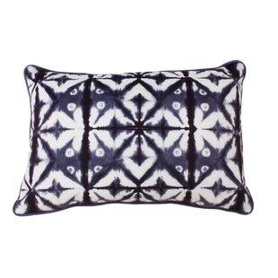 Petrick Shibori Printed Lumbar Pillow