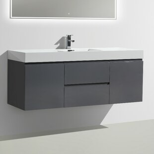 Leni 59 Wall-Mounted Single Bathroom Vanity Set by Orren Ellis