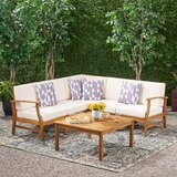 Pardue 6 Piece Sectional Seating Group with Cushions by Lark Manor