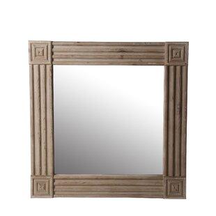 Bloomsbury Market Tonkawa Square Wood Accent Mirror