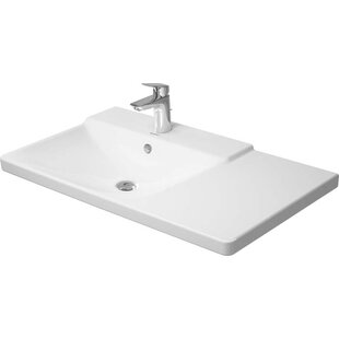 Inexpensive P3 Comforts Ceramic Rectangular Vessel Bathroom Sink with Overflow By Duravit