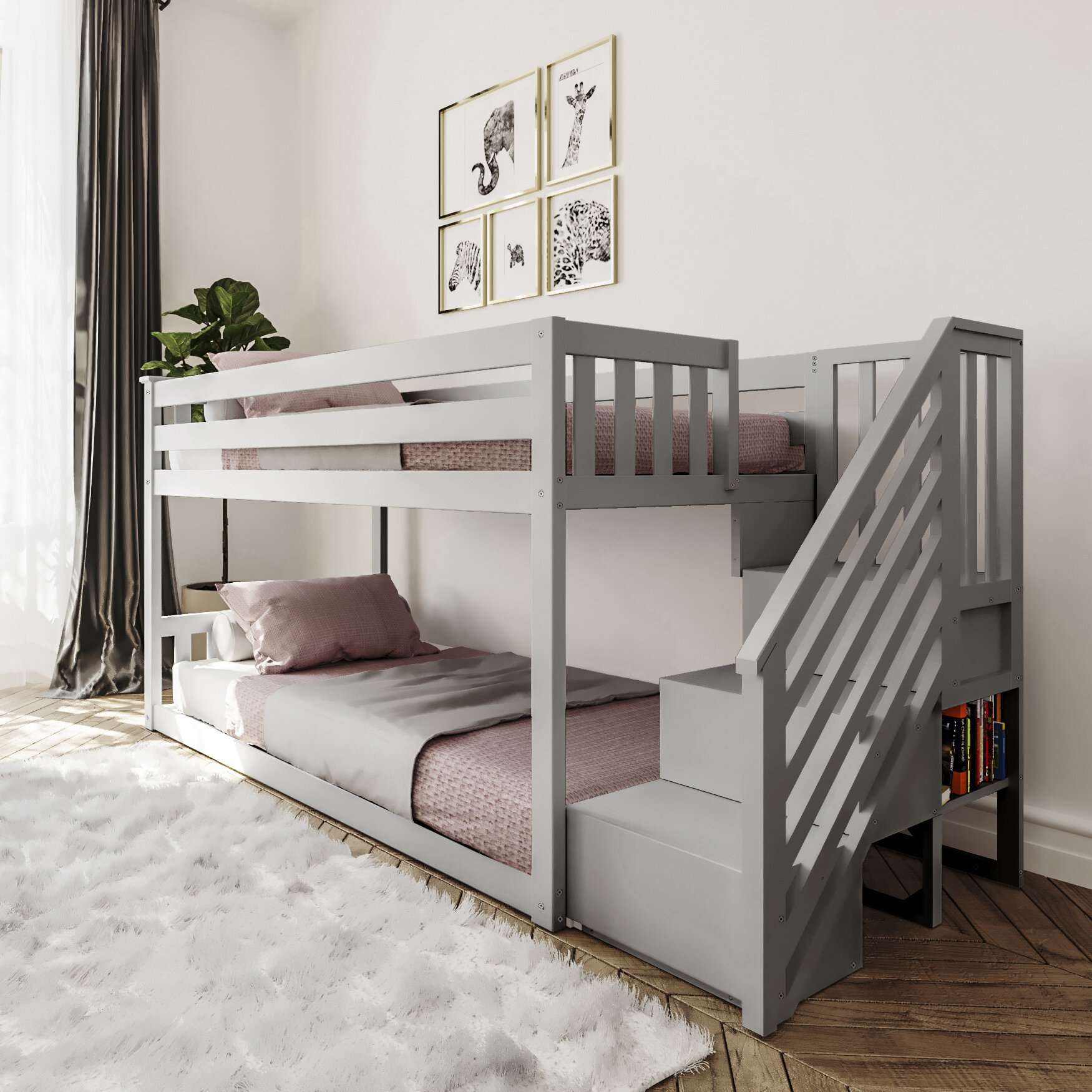 Picture of: Harriet Bee Kean Twin Over Twin Bunk Bed Reviews