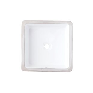 Shopping for Ceramic Square Undermount Bathroom Sink with Overflow ByAmerican Imaginations