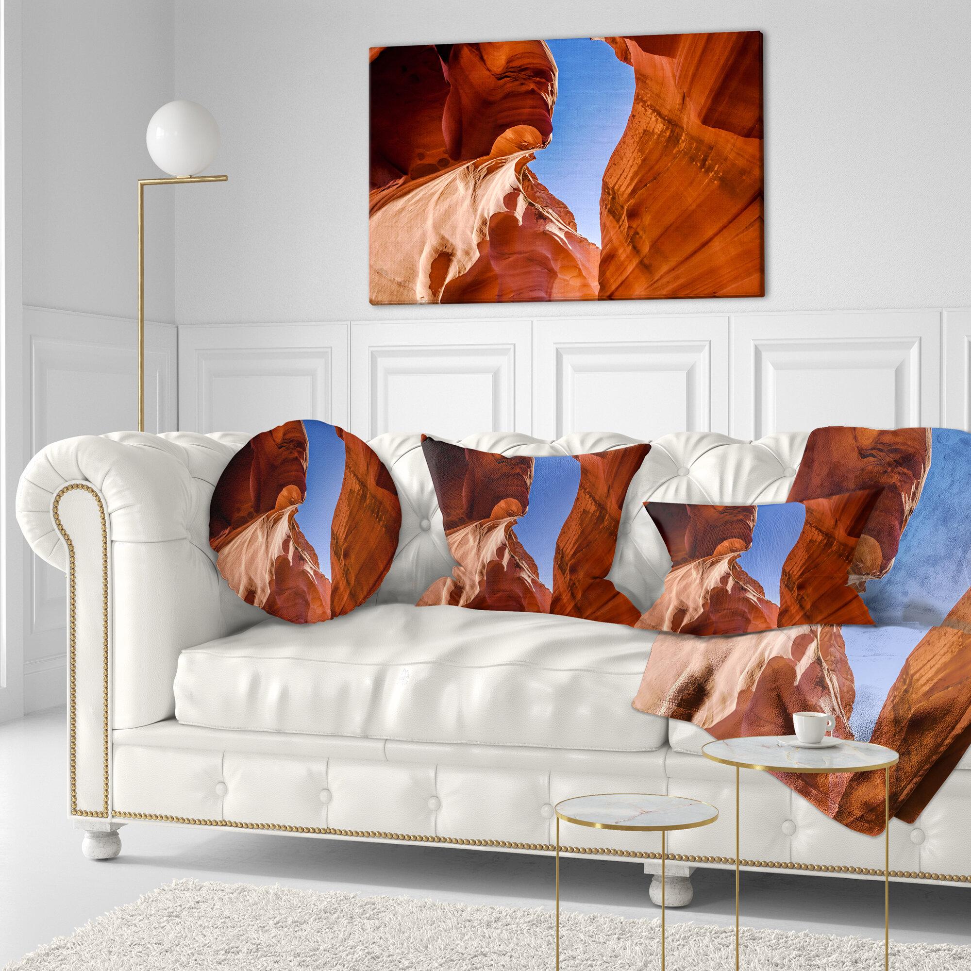 East Urban Home Designart Grand Antelope Canyon Landscape Photography Throw
