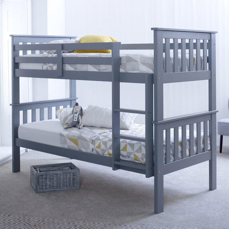 Viv Rae Aaron Single Bunk Bed With Mattress Reviews Wayfair Co Uk