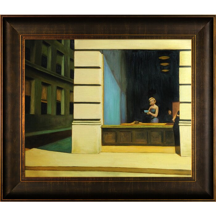 New York Office 1962 By Edward Hopper Framed Painting Print