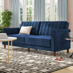 Best Reviews Nia Pin Tufted Convertible Sofa by Willa Arlo Interiors