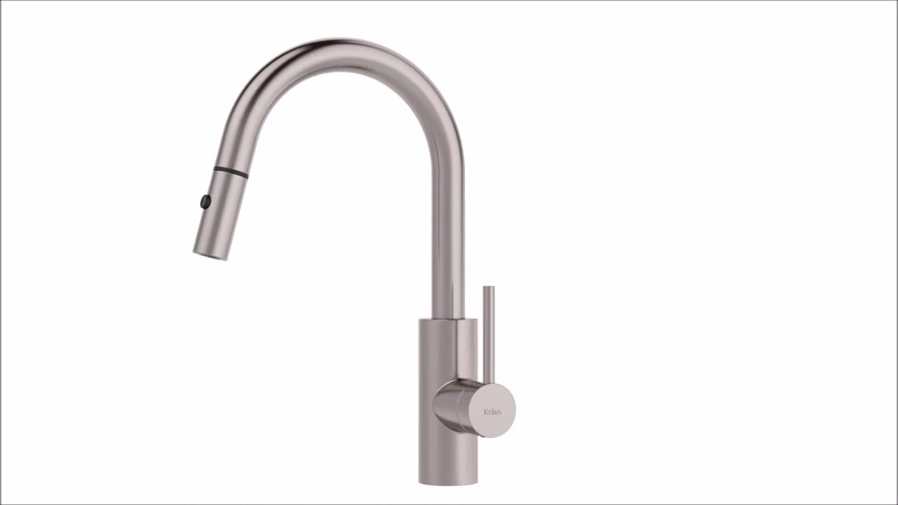 Kraus Oletto Pull Down Single Handle Kitchen Faucet & Reviews | Wayfair