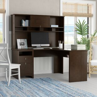 Fralick L-Shape Executive Desk with Hutch