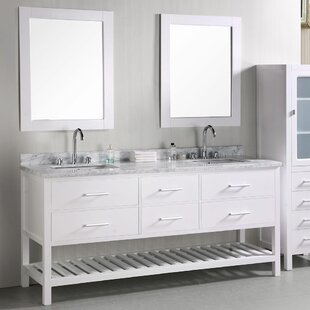 Middletown 72 Double Bathroom Vanity Set with Mirror by Andover Mills