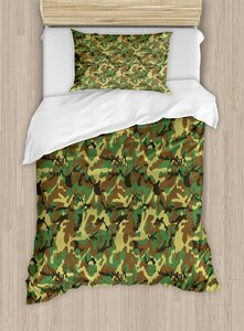 Ambesonne Camo Woodland Camouflage Pattern Abstract Army