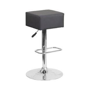 Spade Adjustable Height Swivel Bar Stool