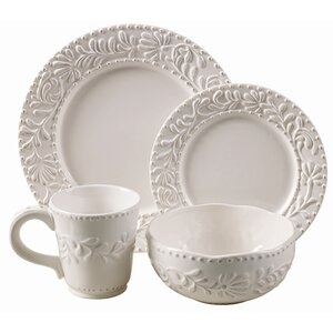 Amandine 16 Piece Dinnerware Set, Service for 4