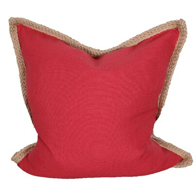 Breakwater Bay Aramantha Feathers Throw Pillow Colour: Red