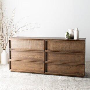Imogen Wood 6 Drawer Double Dresser by Union Rustic
