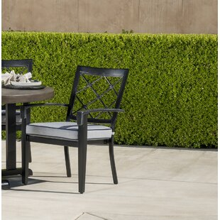 Duncombe Stationary Stacking Patio Dining Chair with Cushion By Darby Home Co