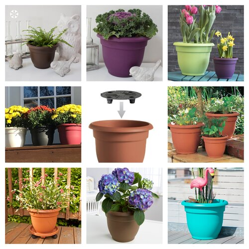 affordable self-watering plastic planters