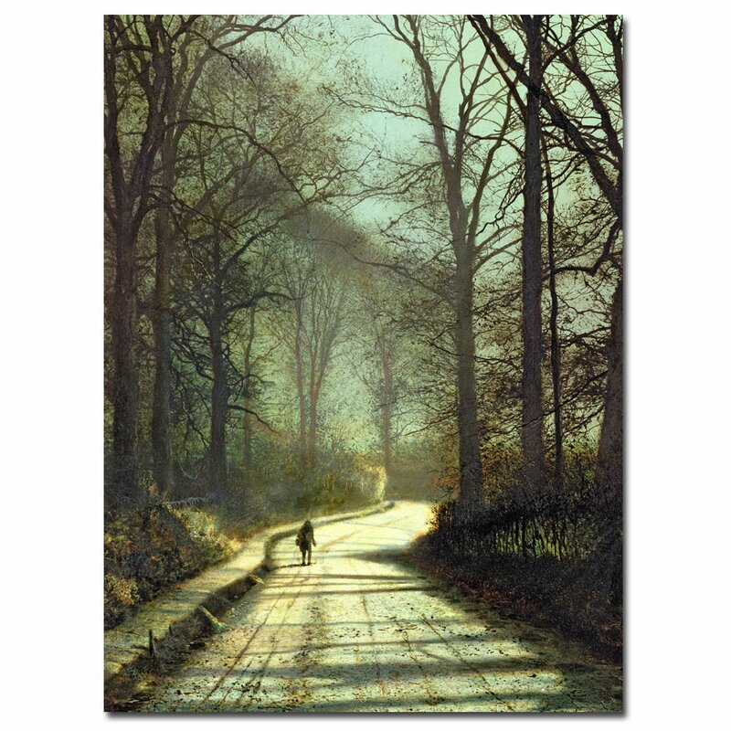 Trademark Art Moonlight Walk By John Atkinson Grimshaw Painting Print On Wrapped Canvas Wayfair