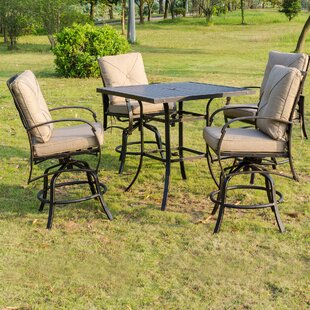 Kemper 5 Piece Bar Height Dining Set with Cushions