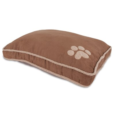 "Shearling Gusseted Dog Pillow Bed Aspen Pet Size: Large (45"" L X 36"" W)"