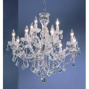 Rialto 12-Light Crystal Chandelier