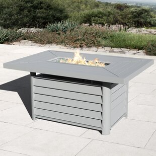 Kilis Aluminum Propane Fire Pit Table by Borealis Discount
