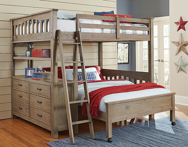 Gisselle L Shaped Bunk Beds With Drawers And Shelves Reviews Joss Main