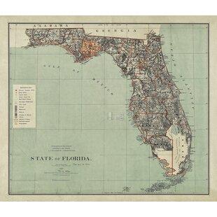 Map Of State Of Florida.State Florida Wall Art Wayfair