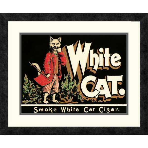 Global Gallery White Cat Brand Cigars Framed Vintage Advertisement Wayfair
