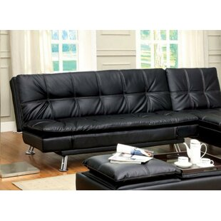 Findlen Leatherette Upholstered Futon and Mattress Latitude Run