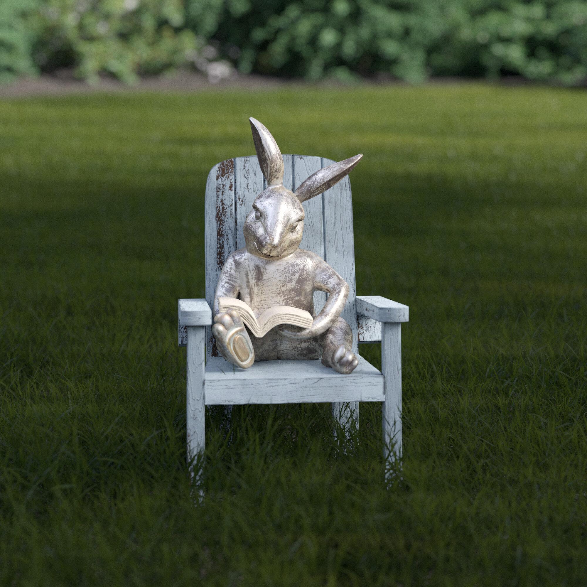 Reading Rabbit Garden Statue Reviews Birch Lane