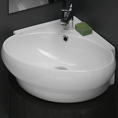 "Bathroom Sinks Wall Mount cerastylenameeks mini ceramic 20"" wall mounted bathroom sink"