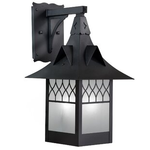 Affordable Price Wester LED Outdoor Wall Lantern By Millwood Pines