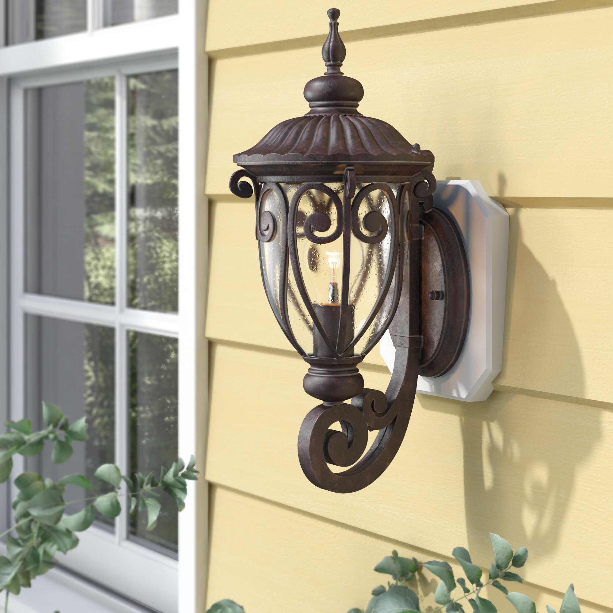 Devlin Traditional 1 Light Outdoor Sconce