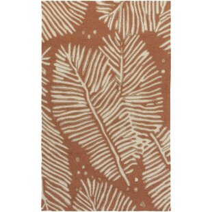 Fort Hand-Tufted Rust/Ivory Indoor/Outdoor Area Rug