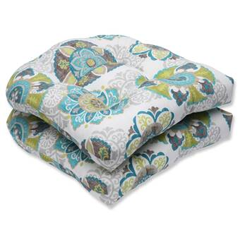 Bay Isle Home Vada Opal Reversible Indoor Outdoor Rocking Chair Cushion
