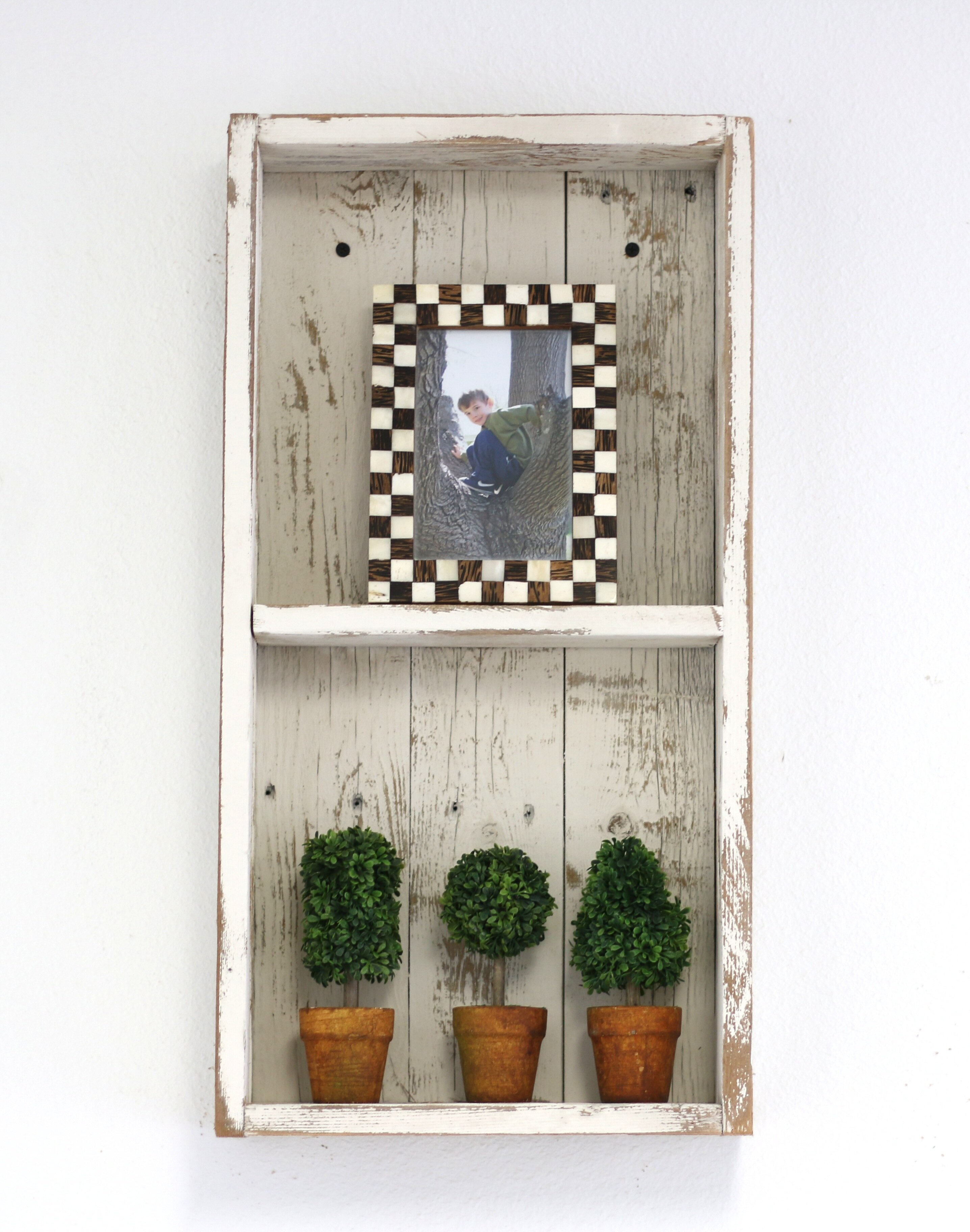 Bateman Double Shadow Box Wall Shelf