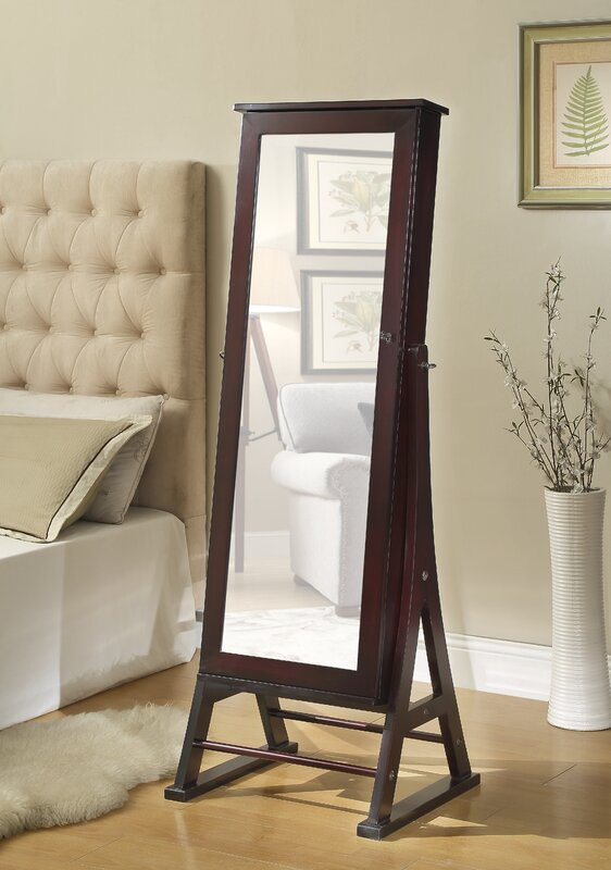 Exceptionnel Fleming Eiffel Free Standing Jewelry Armoire With Mirror